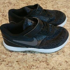 Size 10C Nike athletic shoes, black, EUC